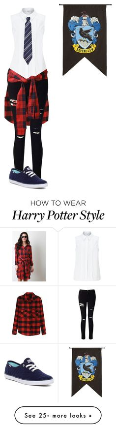"""Ravenclaw (""punk"")"" by destinee-miller15 on Polyvore featuring Miss Selfridge, John Lewis, Keds, Rubie's Costume Co., harrypotter, hogwarts and ravenclaw"