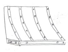 Sketch of traditional range hood from Ironhaus.