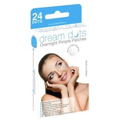 Dream Dots For Spots Overnight Acne Patch Treatment Clear Skin Breakouts 24 A Overnight Acne Remedies, Pimples Overnight, Acne Treatment, Retinol For Acne, Acne Mask, Skin Mask, Acne Blemishes