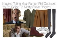 """Imagine Telling Your Father, Phil Coulson, You're Going To Marry Steve Rogers"" by xdr-bieberx ❤ liked on Polyvore"