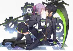 Kyaaa~ Yuu and Shinoa ❤️
