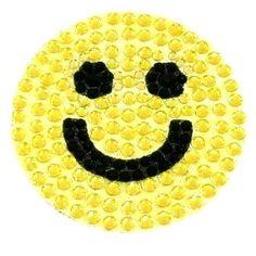 yellow rhinestone smiley face