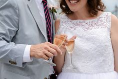 Cheers to the happy couple with a glass of Disney Weddings signature Fairy Tale Cuvée