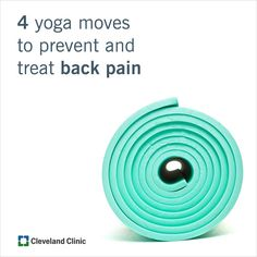 Aching back? Add these 4 #yoga moves into your daily routine. #pain #backpain