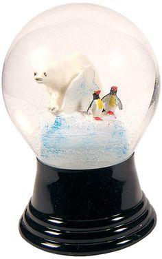 Perzy Medium Polar Bear Snow Globe