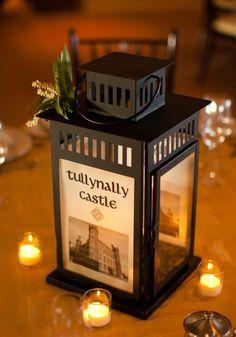 Our Irish Castle Lantern Centerpieces :  wedding lantern inspiration diy reception Wedding 453