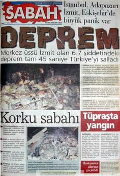 Sabah gazetesi 17 ağustos 1999