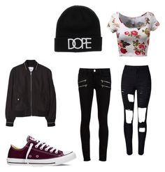 """""""Untitled #14"""" by vieveg on Polyvore featuring Paige Denim, Converse, MANGO, women's clothing, women's fashion, women, female, woman, misses and juniors"""