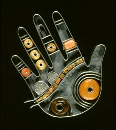 Kiff Slemmons, Ramona, from Hands of the Heroes Series, 1991, silver, amber, beads, Tacoma Art Museum, gift of Ramona Solberg
