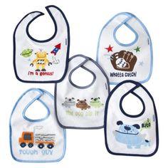 Gerber Baby 5 Pack Terry Bibs - Assorted.  Precio: $8.99