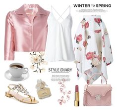 """""""Winter To Spring"""" by rever-de-paris ❤ liked on Polyvore featuring Kate Spade, Awake, BP., Chanel, FRUIT, Marc by Marc Jacobs, P.A.R.O.S.H., Dondup and Alexander McQueen"""