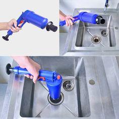 Plunger Opener Toilet Cleaner kit High Pressure Air Drain Blaster Pump Sink Pipe for sale online Toilet Drain, Clogged Toilet, Toilet Sink, Sink Drain, Clogged Drains, Drain Pipes, Drain Pump, Toilet Room, Bathroom Cleaning Hacks
