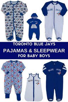 Toronto Blue Jays Pajamas and Sleepwear for Baby Boys.   3 months - 12 months.  Pajamas and Sleep Sacks  #Toronto #Pajamas #PJ's #Sleep #affiliatelink