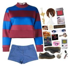 """You can bring balloons, boy, time to throw the party"" by meep1213 ❤ liked on Polyvore featuring adidas, Alice + Olivia, Dr. Martens, C.R.A.F.T., Urban Decay, GET LOST, Dot & Bo, Boucheron, BB Dakota and Nintendo"