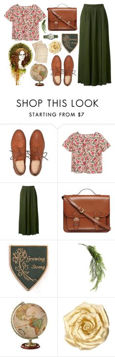 """""""Margaery Tyrell"""" by throwmeadream ❤ liked on Polyvore featuring Mode, Madewell, Forever New, Dorothy Perkins, Cultura, Woolrich, GREEN, brown und GameOfThrones"""