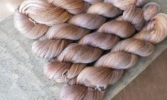 Apricot Sandstone  Hand Dyed Silk Cashmere Lace Yarn by sericin