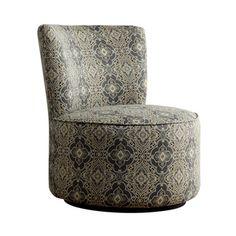 Moda Medallion Floral Print Modern Round Swivel Chair | Overstock.com