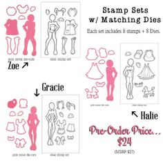 PreOrders for Julie Nutting Doll Stamps by CrazyCraftyCreators