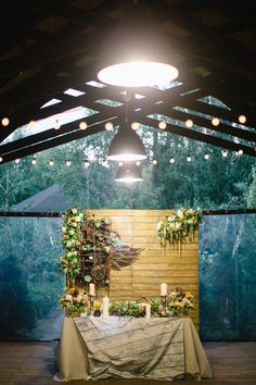 Backdrop steampunk wedding table