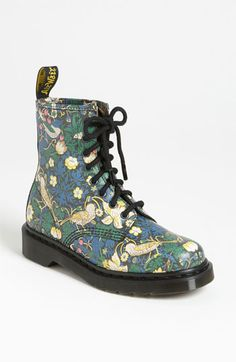 Dr. Martens 'Liberty London' Boot available at Nordstrom -- a William Morris print, originally, Strawberry Thief is one of my favorites!