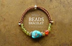 天然石アクセサリー通販|ARTEMANO(アルテマノ) Macrame Jewelry, Macrame Bracelets, Friendship Bracelets, Turquoise Bracelet, Knots, Cord, Jewelery, Beads, Interesting Stuff
