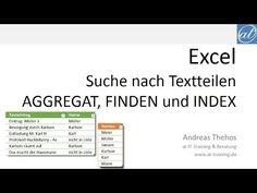 Excel # 412 - Suche nach Textteilen - Alternative zu SVERWEIS und VERGLEICH