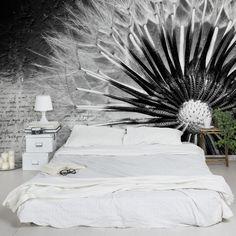 #Vliestapete - #Blumentapete #Pusteblume Schwarz #Wandbilder #blackandwhite #schwarzweiß