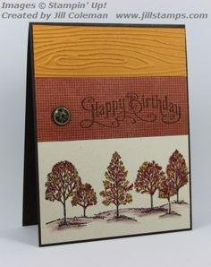 Lovely As a Tree Birthday Watercolor by jillastamps - Cards and Paper Crafts at Splitcoaststampers
