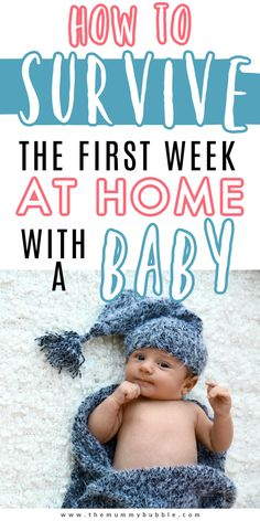 How to cope with your first week at home with a baby. Top tips for surviving the first week with your newborn including postpartum care, feeding, sleep and coping with visitors #newbornbaby Newborn First Week, Baby First Week, Baby Life Hacks, Mom Hacks, Postpartum Care, Postpartum Recovery, Newborn Quotes, Gentle Parenting, Parenting Hacks