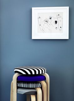 Cover ikea stools with fabric