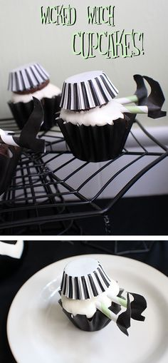 Wicked Witch Halloween Cupcakes - these will be such a fun Halloween treat!
