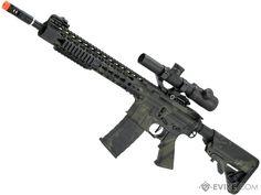 APS ASR115 Full Metal 12.5 M4 Airsoft AEG Rifle (Color: Mulitcam Black)