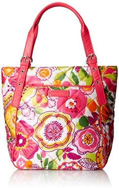 Women's Shoulder Bags - Vera Bradley Puffy Tote Clementine *** Check this awesome product by going to the link at the image.
