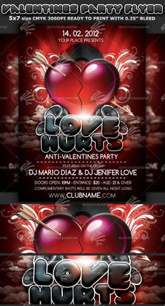 valentines day flyer template photoshop