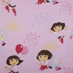 nice dora fabric for a girls bedroom kids fabrics wwwkidsfabricseu