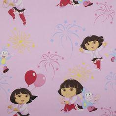 nice dora fabric for a girls bedroom kids fabrics wwwkidsfabricseu
