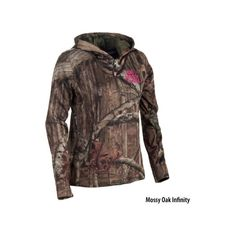Mossy Oak Womens Quarter-Zip Pullover Hoodie - Gander Mountain ($50) ❤ liked on Polyvore