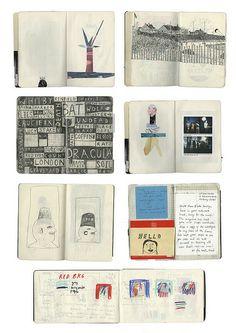 Anthology Magazine: Sketches by Rose Blake Sketchbook Drawings, Artist Sketchbook, Sketchbook Pages, Art Sketches, Sketching, Collages, Moleskine, Buch Design, Artist Journal