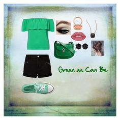 Green as Can Be by aprillo2l13 on Polyvore featuring Dorothy Perkins, Paige Denim, Converse, Marni, Simone Rocha and Pomellato