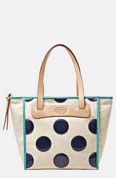 So unique! Fossil Polka Dot Handbag