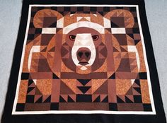 Handmade Item and Made To Order! Five Size Available: Throw, Twin, Queen, King and California/Super King! Made with Kona Cotton, a little bit microfiber and so much love ? Quilted Throw Blanket, Bear Face, Kona Cotton, Picture Show, Cuddling, Kids Room, Quilts, Bed Couch, Picnic