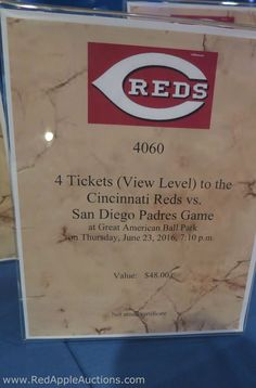 If you know the seats / section of the tickets, consider adding that to the description.  Even better, SHOW guests the view by snagging a photo from a website like www.AViewFromMySeat.com  #SilentAuctionDisplayIdeas