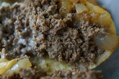 Cheesesteak Rivalry: Dalesandro's Versus Chubby's | Cheese melting into a Dalessandro's cheesesteak.