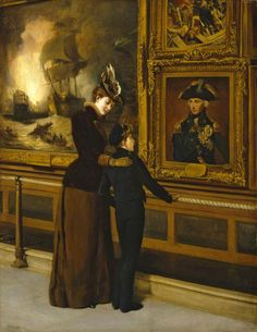 This beautiful painting says it all -- Thomas Davidson, England's Pride and Glory, At the National Maritime Museum, Greenwich, London Classic Paintings, Great Paintings, Old Paintings, Beautiful Paintings, Camille Pissarro, Nautical Artwork, Pride And Glory, Gauguin, Art Ancien
