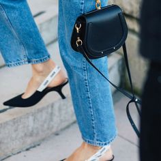 The Pretty Shoe Trend Fashion Girls Will Wear With Jeans This Fall via @WhoWhatWear