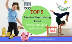 These are the Top 5 Passive Fundraising Ideas for sporting clubs and schools, as they are easy, profitable and unique School Sports, Sports Clubs, Solar System Crafts, School Projects, School Ideas, Gymnastics Team, Girl Empowerment, School Auction, School Bulletin Boards