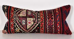 lumbar vintage 12x24 kilim pillow kp529 by islimi on Etsy