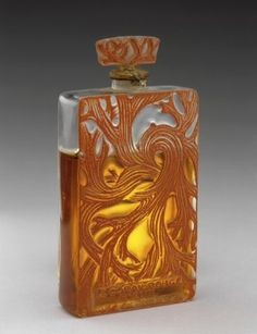 One of the first modern perfume bottles designed by Lalique in the 1920s