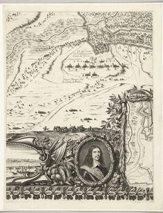Nicolas Cochin | Ontzet van Arras, belegerd door de Spanjaarden (onderste rij, plaat 2), 1654, Nicolas Cochin, Jean Frosne, Sébastien de Pontault de Beaulieu, 1655 | Ontzet van de stad Arras (Atrecht), belegerd door de Spanjaarden, 23-25 augustus 1654. Arras ontzet door het Franse leger onder de maarschalk Turenne van het beleg door de Spanjaarden onder Louis de Condé en aartshertog Leopold Willem. Tweede blad in de onderste rij. Deel van de kaart van het beleg met vluchtende troepen…