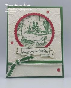 Toile Tidings Christmas by - Cards and Paper Crafts at Splitcoaststampers Stampin Up Christmas, Christmas Cards To Make, Xmas Cards, Handmade Christmas, Holiday Cards, Christmas Tag, Christmas Holiday, Card Making Templates, Stamping Up Cards